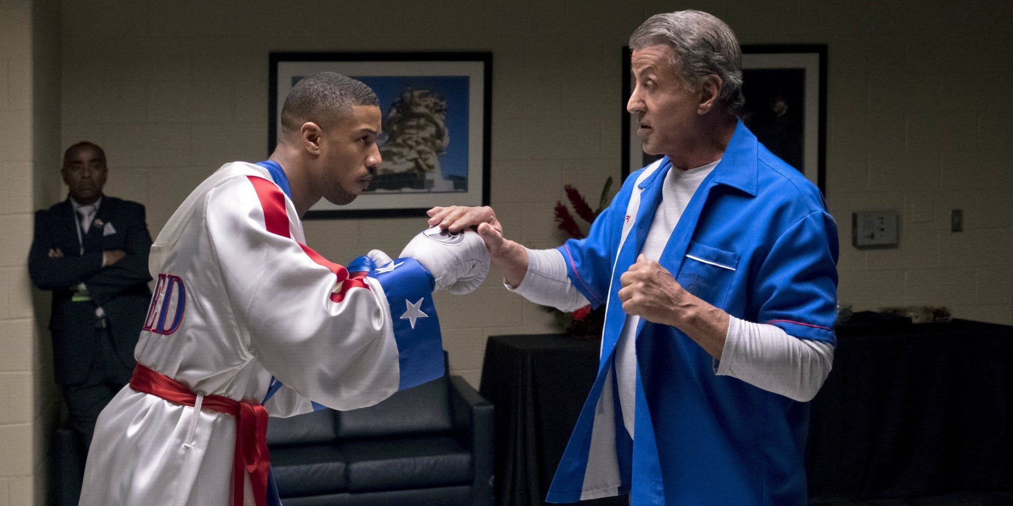 5df9ed84f14266 Michael B. Jordan sure got into shape to play Adonis Creed. He put on 20  pounds of muscle.